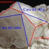 _Esquema cristal de PollucitaPegmatita Mawi, Nilaw-Kolum, Distrito Du Ab, Provincia Nuristan, Afganistán14 x 8 x 5 cm (Autor: Antonio Alcaide)