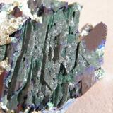 Azurite<br />Tsumeb Mine, Tsumeb, Otjikoto Region, Namibia<br />80x60x30mm<br /> (Author: Heimo Hellwig)