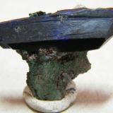 Azurite<br />Tsumeb Mine, Tsumeb, Otjikoto Region, Namibia<br />35x20x5mm<br /> (Author: Heimo Hellwig)
