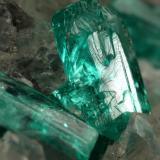 Beryl (variety emerald), Calcite, Dolomite, Pyrite<br />Chivor mining district, Municipio Chivor, Eastern Emerald Belt, Boyacá Department, Colombia<br />69x57x38mm, xls up to 10mm<br /> (Author: Fiebre Verde)
