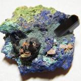 Azurite<br />Tsumeb Mine, Tsumeb, Otjikoto Region, Namibia<br />40x40x25mm<br /> (Author: Heimo Hellwig)