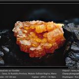 Vanadinite on GoethiteTaouz, Erfoud, Provincia Er Rachidia, Region Meknès-Tafilalet, Marruecosfov 7 mm (Author: ploum)