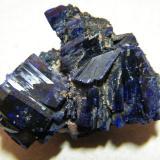 Azurite<br />Tsumeb Mine, Tsumeb, Otjikoto Region, Namibia<br />35x25x10mm<br /> (Author: Heimo Hellwig)