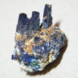 Azurite<br />Tsumeb Mine, Tsumeb, Otjikoto Region, Namibia<br />25x30x20mm<br /> (Author: Heimo Hellwig)