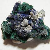 Azurite, Malachite, Cerussite<br />Tsumeb Mine, Tsumeb, Otjikoto Region, Namibia<br />45x35x25mm<br /> (Author: Heimo Hellwig)