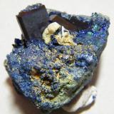 Azurite<br />Tsumeb Mine, Tsumeb, Otjikoto Region, Namibia<br />45x35x40mm<br /> (Author: Heimo Hellwig)