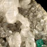 Beryl (variety emerald), Calcite, Pyrite<br />La Pita mining district, Municipio Maripí, Western Emerald Belt, Boyacá Department, Colombia<br />140x75x80mm, xls=16 & 10mm<br /> (Author: Fiebre Verde)