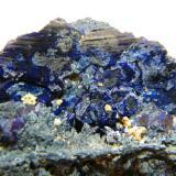 Azurite<br />Tsumeb Mine, Tsumeb, Otjikoto Region, Namibia<br />45x30x20mm<br /> (Author: Heimo Hellwig)