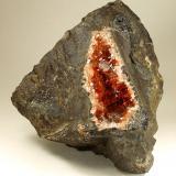 Rhodochrosite, Fluorite, Quartz, Goethite<br />Uchucchacua Mine, Oyón Province, Lima Department, Peru<br />115x110x50mm<br /> (Author: Fiebre Verde)
