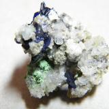 Azurite<br />Tsumeb Mine, Tsumeb, Otjikoto Region, Namibia<br />20X20X15mm<br /> (Author: Heimo Hellwig)