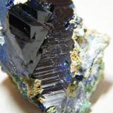 Azurite<br />Tsumeb Mine, Tsumeb, Otjikoto Region, Namibia<br />45x40x30mm<br /> (Author: Heimo Hellwig)