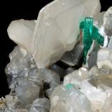 Beryl (variety emerald), Calcite, Dolomite, Pyrite<br />Coscuez mining district, Municipio San Pablo de Borbur, Western Emerald Belt, Boyacá Department, Colombia<br />113x98x85mm, main xl=15mm<br /> (Author: Fiebre Verde)