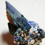 Azurite<br />Tsumeb Mine, Tsumeb, Otjikoto Region, Namibia<br />20x30x20mm<br /> (Author: Heimo Hellwig)
