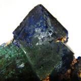 Azurite<br />Tsumeb Mine, Tsumeb, Otjikoto Region, Namibia<br />50x80x35mm<br /> (Author: Heimo Hellwig)