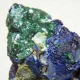 Azurite and Malachite<br />Tsumeb Mine, Tsumeb, Otjikoto Region, Namibia<br />70x80x40mm<br /> (Author: Heimo Hellwig)