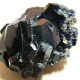 Azurite<br />Tsumeb Mine, Tsumeb, Otjikoto Region, Namibia<br />30x25x25mm<br /> (Author: Heimo Hellwig)