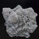 Barite, Quartz, Stibnite<br />Murray Mine, Independence Mountains District, Elko County, Nevada, USA<br />10.5 x 10.0 cm<br /> (Author: am mizunaka)