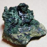 Azurite/Malachite<br />Tsumeb Mine, Tsumeb, Otjikoto Region, Namibia<br />45x45x35mm<br /> (Author: Heimo Hellwig)