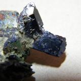 Azurite<br />Tsumeb Mine, Tsumeb, Otjikoto Region, Namibia<br />55x40x20mm<br /> (Author: Heimo Hellwig)
