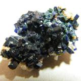 Azurite<br />Tsumeb Mine, Tsumeb, Otjikoto Region, Namibia<br />25x15x15mm<br /> (Author: Heimo Hellwig)