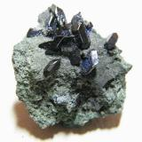 Azurite<br />Tsumeb Mine, Tsumeb, Otjikoto Region, Namibia<br />30x35x20mm<br /> (Author: Heimo Hellwig)