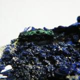 Azurite<br />Tsumeb Mine, Tsumeb, Otjikoto Region, Namibia<br />90x65x35mm<br /> (Author: Heimo Hellwig)