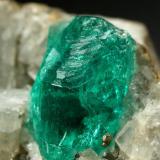 Beryl (variety emerald), Calcite, Pyrite<br />Chivor mining district, Municipio Chivor, Eastern Emerald Belt, Boyacá Department, Colombia<br />35x23x20mm, xl=9mm<br /> (Author: Fiebre Verde)