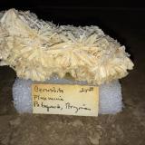 Cerussite<br />Flux Mine, Flux Gulch, Alum Gulch, Patagonia Mountains, Harshaw District, Santa Cruz County, Arizona, USA<br />95 X 50 X 40 mm<br /> (Author: Robert Seitz)