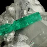 Beryl (variety emerald), Calcite, Dolomite<br />La Pita mining district, Municipio Maripí, Western Emerald Belt, Boyacá Department, Colombia<br />55x40x35mm, xl=22mm<br /> (Author: Fiebre Verde)