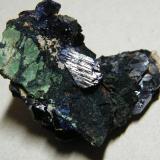 Azurite<br />Tsumeb Mine, Tsumeb, Otjikoto Region, Namibia<br />50x40x20mm<br /> (Author: Heimo Hellwig)