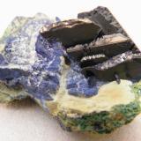 Azurite<br />Tsumeb Mine, Tsumeb, Otjikoto Region, Namibia<br />40x30x25mm<br /> (Author: Heimo Hellwig)