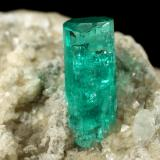 Beryl (variety emerald), Albite (variety cleavelandite), Dolomite, Pyrite<br />Chivor mining district, Municipio Chivor, Eastern Emerald Belt, Boyacá Department, Colombia<br />58x28x42mm, xl=11x4.5mm<br /> (Author: Fiebre Verde)