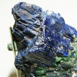 Azurite and Smithsonite<br />Tsumeb Mine, Tsumeb, Otjikoto Region, Namibia<br />60x40x50mm<br /> (Author: Heimo Hellwig)