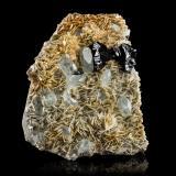 Cassiterite with Beryl (variety goshenite) and MuscoviteHuya, Monte Xuebaoding, Condado Pingwu, Prefectura Mianyang, Provincia Sichuan, China22,0x26,5x8,5cm (Author: MIM Museum)