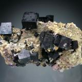Fluorite<br />Bergmännisch Glück Flacher vein, Wismut Shaft 29b, Frohnau, Annaberg-Buchholz, Annaberg District, Erzgebirge, Saxony/Sachsen, Germany<br />9x6x4 cm overall size<br /> (Author: Jesse Fisher)