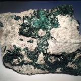 Brochantite<br />Milpillas Mine, Cuitaca, Municipio Santa Cruz, Sonora, Mexico<br />230 X 200 X 90 mm<br /> (Author: Robert Seitz)