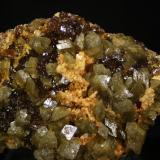 Esfalerita, Siderita y Dolomita<br />Mina Troya, Mutiloa, Comarca Goyerri, Gipuzkoa / Guipúzcoa, Euskadi, España<br />9,5x7 cm<br /> (Autor: minero1968)