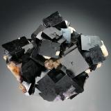 Fluorite<br />Bergmännisch Glück Flacher vein, Wismut Shaft 29b, Frohnau, Annaberg-Buchholz, Annaberg District, Erzgebirge, Saxony/Sachsen, Germany<br />10x7x6 cm overall size<br /> (Author: Jesse Fisher)