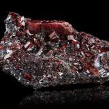 Rhodonite and GalenaMina North (Mina North Broken Hill), Broken Hill, Condado Yancowinna, Nueva Gales del Sur, Australia18,5x9,0x8,5cm (Author: MIM Museum)