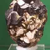 Galena, Siderite, Calcite<br />Pfaffenberg Mine, Neudorf, Harzgerode mining district, Harz, Saxony-Anhalt/Sachsen-Anhalt, Germany<br />7x5 cm<br /> (Author: chris)