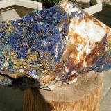 Azurite (mostly) on Quartz<br />Tschudi Mine, Otavi, Otjozondjupa Region, Namibia<br />310x140x150mm<br /> (Author: Heimo Hellwig)