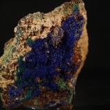 Azurita<br />Mina Teresita (Mina Aramo; Minas de Texeo), Llamo, Riosa, Comarca de Oviedo, Asturias, Principado de Asturias, España<br />9,5x7,5 cm<br /> (Autor: minero1968)