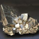 Pyrite<br />Niccioleta Mine, Massa Marittima, Grosseto Province, Tuscany, Italy<br />60mm x 35mm x 50mm<br /> (Author: Philippe Durand)