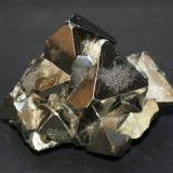 Pyrite<br />Huanzala Mine, Huallanca District, Dos de Mayo Province, Huánuco Department, Peru<br />65mm x 55mm x 55mm<br /> (Author: Philippe Durand)