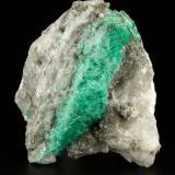 Beryl (variety emerald), Calcite, Pyrite<br />Coscuez mining district, Jerusalem Mine, Municipio San Pablo de Borbur, Western Emerald Belt, Boyacá Department, Colombia<br />53x61x36mm<br /> (Author: Fiebre Verde)