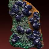 Azurite and malachite<br />Copper Queen Mine, Queen Hill, Bisbee, Warren District, Mule Mountains, Cochise County, Arizona, USA<br />104 mm<br /> (Author: Gail)