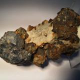 Galena, Sphalerite, Chalcopyrite, Marcasite<br />Joplin Field, Tri-State District, Jasper County, Missouri, USA<br />110 X 60 X 55 mm<br /> (Author: Robert Seitz)