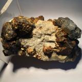 Galena, Sphalerite, Chalcopyrite, Marcasite,<br />Joplin Field, Tri-State District, Jasper County, Missouri, USA<br />110 X 60 X 55 mm<br /> (Author: Robert Seitz)