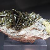 Epidote<br />Cime du Cornillon (Cornillon), Le Bourg d'Oisans, Isère, Auvergne-Rhône-Alpes, France<br />80mm x 45mm x 25mm<br /> (Author: Philippe Durand)