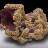 Fluorite with siderite<br />Boltsburn Mine, Rookhope District, Weardale, North Pennines Orefield, County Durham, England, United Kingdom<br />113 mm<br /> (Author: Gail)